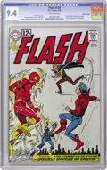 Silver Age (1956-1969):Superhero, The Flash #129 Western Penn pedigree (DC, 1962) CGC NM 9.4Off-white pages. The second Silver Age appearance of the GoldenA...