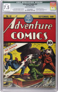 Golden Age (1938-1955):Superhero, Adventure Comics #42 (DC, 1939) CGC Qualified VF- 7.5 Cream to off-white pages. This issue's Sandman cover was only the seco...
