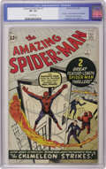 Silver Age (1956-1969):Superhero, The Amazing Spider-Man #1 (Marvel, 1963) CGC VF+ 8.5 Off-whitepages. As you can see by the jump in Guide values noted below...