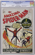 Silver Age (1956-1969):Superhero, The Amazing Spider-Man #1 (Marvel, 1963) CGC NM- 9.2 Off-whitepages. Some 16 months after Marvel's fateful introduction of ...