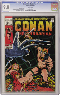 Conan the Barbarian #4 (Marvel, 1971) CGC NM/MT 9.8 White pages