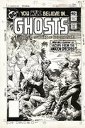 Original Comic Art:Covers, Luis Dominguez - Ghosts #83 Cover Original Art (DC, 1979). Thehaunted wilds of the jungle serve as the setting for this eer...