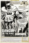Original Comic Art:Splash Pages, Irv Novick and Frank McLaughlin - Batman #315, Splash Page 1Original Art (DC, 1979). Irv Novick spotlights Batman, the lege...