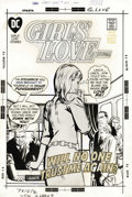 Original Comic Art:Covers, Tony DeZuniga (attributed) - Girls' Love Stories #155 CoverOriginal Art (DC, 1970). Love in the workplace is seldom a good ...