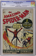 Silver Age (1956-1969):Superhero, The Amazing Spider-Man #1 (Marvel, 1963) CGC VG/FN 5.0 Off-whitepages. In this copy from a single-owner collection, Spider-...