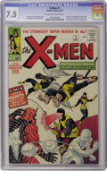 Silver Age (1956-1969):Superhero, X-Men #1 (Marvel, 1963) CGC VF- 7.5 Off-white to white pages. Let the mutant mayhem begin! The origin and first appearance o...
