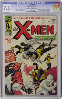 X-Men #1 (Marvel, 1963) CGC VF- 7.5 Off-white to white pages. Let the mutant mayhem begin! The origin and first appearan...