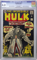 Silver Age (1956-1969):Superhero, The Incredible Hulk #1 (Marvel, 1962) CGC VG 4.0 Off-white to whitepages. This classic first issue from Marvel features the...