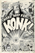 """Original Comic Art:Panel Pages, Marie Severin and Tom Sutton - Not Brand Echh #11 """"King Konk"""" PageOriginal Art, Group of 7 (Marvel, 1968). The wicked wit o..."""