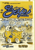 Silver Age (1956-1969):Alternative/Underground, Zap Comix #1 First Printing (Apex Novelties, 1967) Condition: VG+.This little time-bomb set off a cultural wave still being...