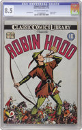 Golden Age (1938-1955):Classics Illustrated, Classic Comics #7 Robin Hood - Original Edition (Elliott, 1942) CGCVF+ 8.5 Off-white to white pages. Here's the first print...