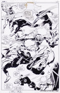 Original Comic Art:Splash Pages, Gene Colan and George Klein - Daredevil #46, Splash Page 18Original Art (Marvel, 1968). Daredevil lowers the boom on the Je...