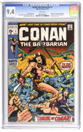 Bronze Age (1970-1979):Superhero, Conan the Barbarian #1 (Marvel, 1970) CGC NM 9.4 White pages. RoyThomas and Barry Smith caused quite a stir with this barba...