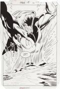 Original Comic Art:Splash Pages, Joe Staton Green Lantern #196 Page 15 Original Splash Art(DC, 1986)....