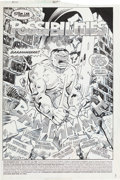Original Comic Art:Splash Pages, Jeff Purves and Jim Sanders III Incredible Hulk #357 Page 1Splash Original Art (Marvel, 1989)....