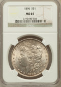 Morgan Dollars: , 1896 $1 MS64 NGC. NGC Census: (16572/5309). PCGS Population(12703/4395). Mintage: 9,976,762. Numismedia Wsl. Price for pro...