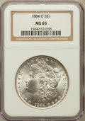 Morgan Dollars: , 1884-O $1 MS65 NGC. NGC Census: (17590/1931). PCGS Population(13041/1326). Mintage: 9,730,000. Numismedia Wsl. Price for p...