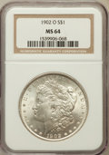 Morgan Dollars: , 1902-O $1 MS64 NGC. NGC Census: (27537/6944). PCGS Population(19914/4664). Mintage: 8,636,000. Numismedia Wsl. Price for p...