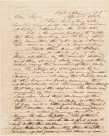 Western Expansion, Remarkable 1843 Letter Detailing an Act of Savagery by Indians inIowa. ...
