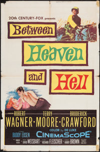 """Between Heaven and Hell & Others Lot (20th Century Fox, 1956). One Sheets (2) (27"""" X 41"""") & Italian Lo..."""