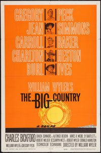 """The Big Country (United Artists, 1958). One Sheet (27"""" X 41"""") Style B. Western"""