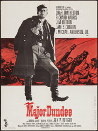 "Major Dundee (Columbia, 1965). French Affiche (23.5"" X 31.5""). Western"