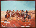 Art, George Armstrong Custer: A Large, Colorful Modern Painting. ...
