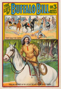 Entertainment Collectibles:Movie, Cody and Custer: Colorful Promotional Poster Issued by the Buffalo Bill - Pawnee Bill Film Co. ...