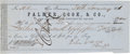 Miscellaneous:Ephemera, Jack Hays: A Scarce Personal Bank Draft Signed by the LegendaryTexas Ranger. ...