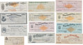 Western Expansion:Cowboy, Tombstone/ Cochise County, Arizona: Group of Twelve Checks....(Total: 12 Items)