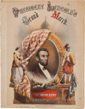 Political:Small Paper (pre-1896), Abraham Lincoln: Colorful 1862 Sheet Music....