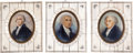 Political:3D & Other Display (pre-1896), Washington, Adams and Madison: Miniature Portraits.... (Total: 3Items)