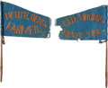 Political:Textile Display (pre-1896), Harrison & Tyler: Pair of Cotton Folk Art Pennants....