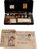 Political:Presidential Relics, Chemistry Set Presented to a Dying Boy by President Franklin D. Roosevelt.... (Total: 3 Items)