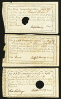 Colonial Notes:Connecticut, Connecticut Interest Certificates 10s; £1; £5 1789-90 AndersonCT-51; 52; 54 Very Fine.. ... (Total: 3 notes)