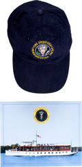 Political:Textile Display (1896-present), Mikhail Gorbachev-Worn Souvenir Hat from the Presidential Yacht U.S.S. Sequoia. ...