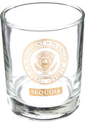 Political:Presidential Relics, John F. Kennedy: A Rare Glass Tumbler from the Presidential Yacht U.S.S. Sequoia. ... (Total: 2 Items)