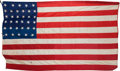 Military & Patriotic:Civil War, U. S. Flags: 34-Star Flag Flown During Civil War....