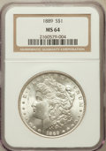 Morgan Dollars: , 1889 $1 MS64 NGC. NGC Census: (14150/2188). PCGS Population(9660/1924). Mintage: 21,726,812. Numismedia Wsl. Price for pro...