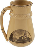 Political:3D & Other Display (pre-1896), Philadelphia Centennial Exhibition: Wedgwood Pitcher....