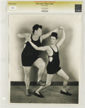 """Movie Posters:Miscellaneous, Stan Laurel & Oliver Hardy - Culver Pictures (1930). Still (8""""X 10""""). A great photo of the comic pair in a staged scene. Re..."""