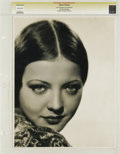 "Movie Posters:Miscellaneous, Sylvia Sidney by Eugene Robert Richee - Lost Hollywood Collection(c.1930). Still (11"" X 14""). Eugene Robert Richee was ..."