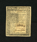 Colonial Notes:Delaware, Delaware January 1, 1776 4s Gem New. A very well margined and wellembossed gem from this popular Delaware issue which has t...