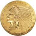 Proof Indian Quarter Eagles, 1909 $2 1/2 PR64 NGC....