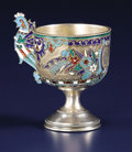 Silver Holloware, Continental:Holloware, A Russian Silver Gilt and Cloisonné Enamel Cup. Unknown maker,Moscow, Russia. Circa 1896-1907. Silver, silver gilt and en...