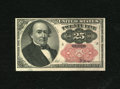 Fractional Currency:Fifth Issue, Fr. 1309 25c Fifth Issue Choice About New. A corner fold is foundon this Short Key Walker....