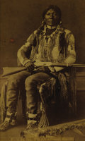 "Photography:Cabinet Photos, Framed Albumen Photograph of Famous Warrior ""Ute Jim,"" ca. 1880-1890...."