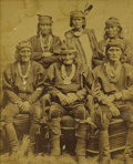 Photography:Cabinet Photos, Framed Large Format Photograph of Six Zuni Chiefs, 1882....