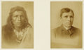 Photography:Cabinet Photos, NAVAHO- TOM TORLENO BEFORE AND AFTER ENTERING CARLISLE INDIANSCHOOL IN PENNSYLVANIA, ca. 1880s. The Carlisle school was fo...(Total: 1 Item)