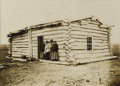 "Photography:Cabinet Photos, Imperial Size Photograph of ""Sitting Bull's Cabin"" by D. F. Barry,ca. 1889-90...."